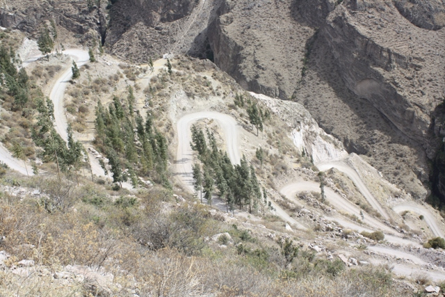 Switchbacks to the Cotahuasi river