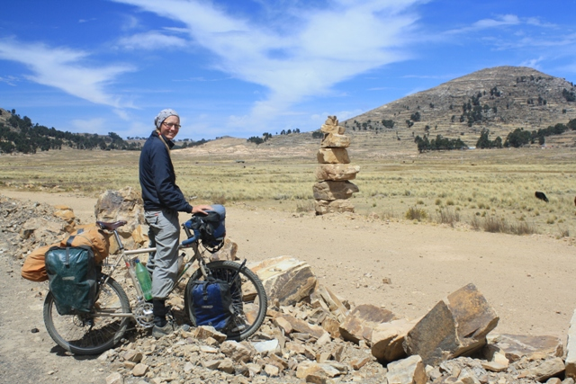 Big cairn near the east shore of Titicaca