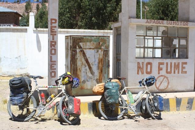 Abandoned Peruvian petrol station