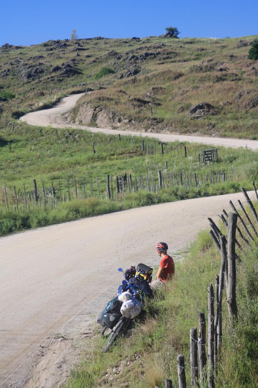 Climbing to Yacanto de Calamuchita