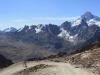 Descending from Chacaltaya Ski Station past Huayna Potosi