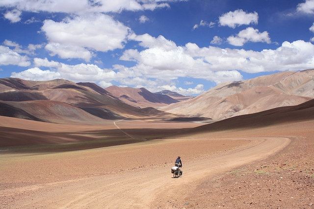 Descending from Abra Pircas Negras to the Chile/Argentina border