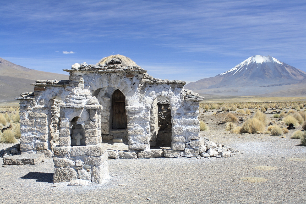 Cute church on the track to Sajama