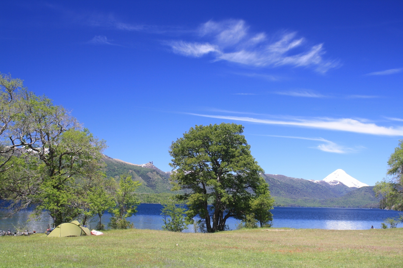 Campsite by Lago Quillen