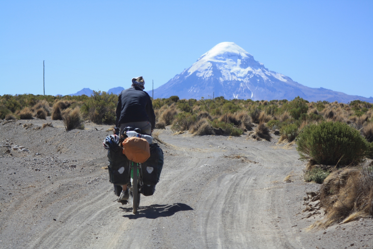 The road to Sajama