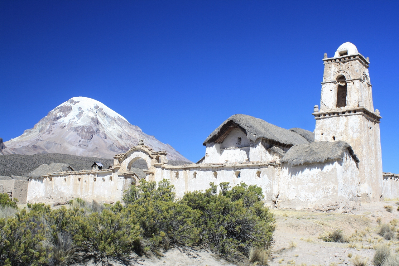 Tomarapi church and Sajama