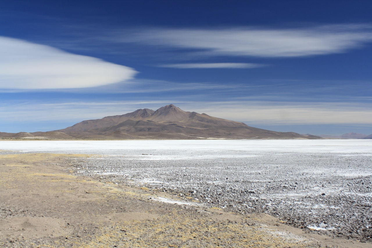The edge of the Salar de Coipasa