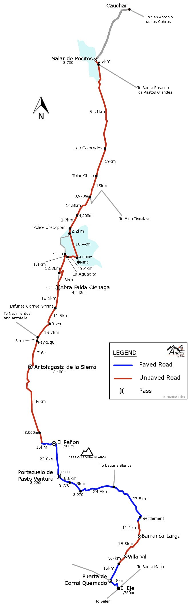 Antofagasta de la Sierra route